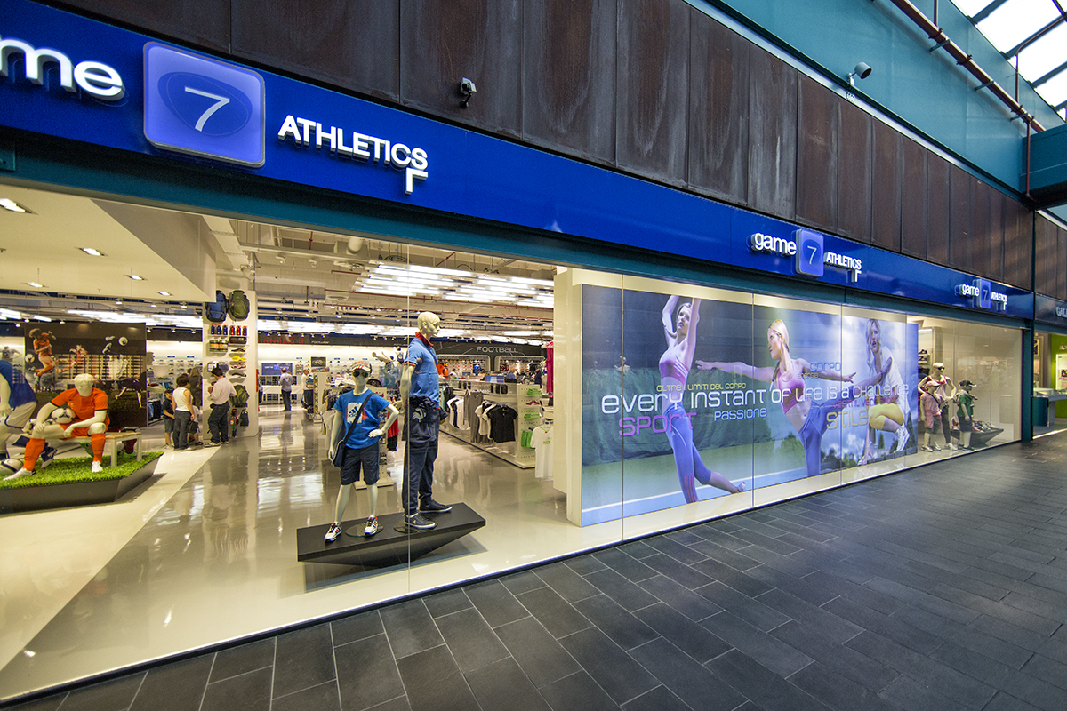 game7athletics flagship store, Parma Euro Torri, Italy.